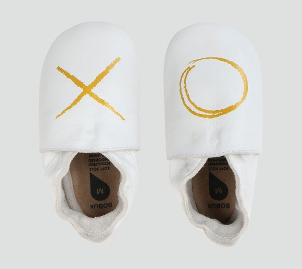 Bobux Soft Soles -  XO White - Eloquence Boutique
