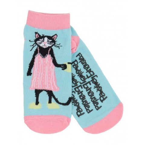 Hatley Womens Ankle Socks - Pawsitively Exhusted - Eloquence Boutique