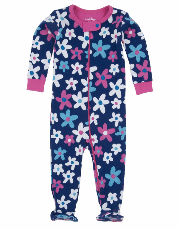 Hatley Footed Coverall - Summer Garden - Eloquence Boutique