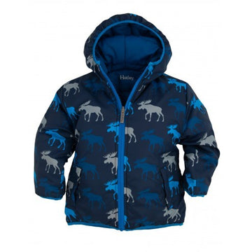 Hatley - Graphic Moose Reversible Puffer