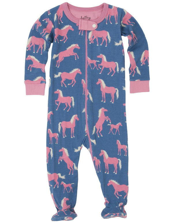 Hatley Footed Coverall - Show Horses - Eloquence Boutique