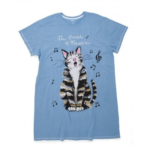 Hatley Sleepshirt - The Sound of Mewsic - Eloquence Boutique