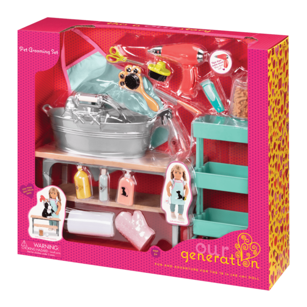 Our Generation Dolls - Pet Grooming Set - Eloquence Boutique