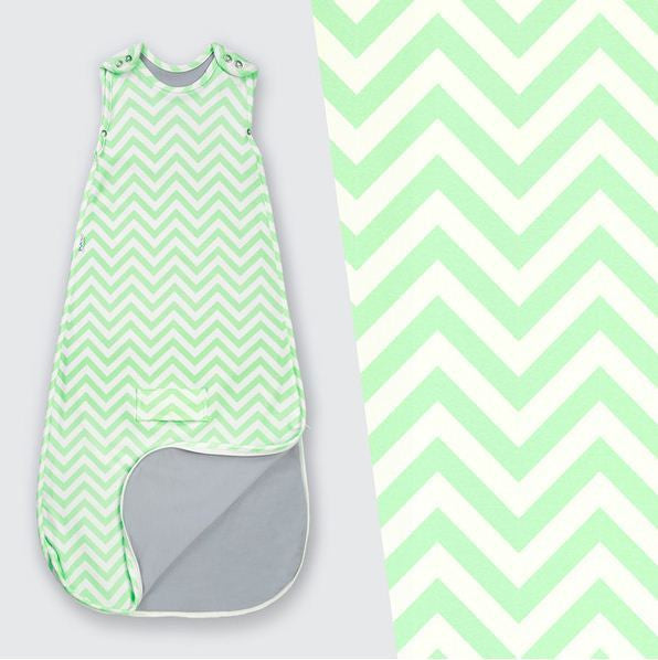 Superlove Sleeping Bag - Mint Chevron - Eloquence Boutique