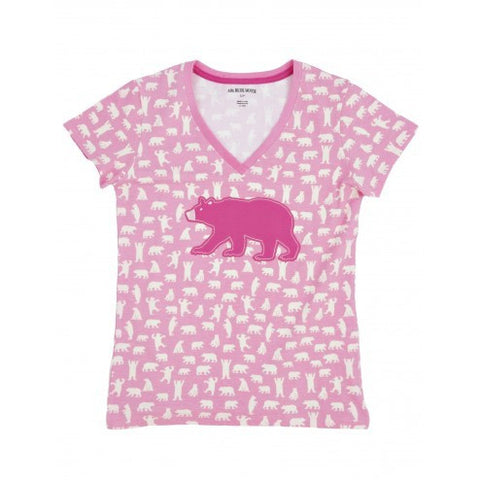 Hatley Womens Pyjama - Fuchsia Bears - Eloquence Boutique
