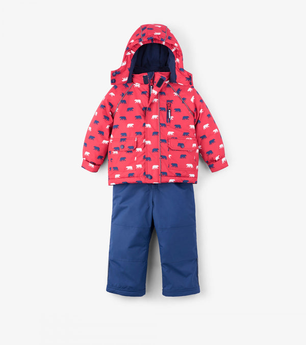 Hatley Snow Suit - Polar Bear - Eloquence Boutique
