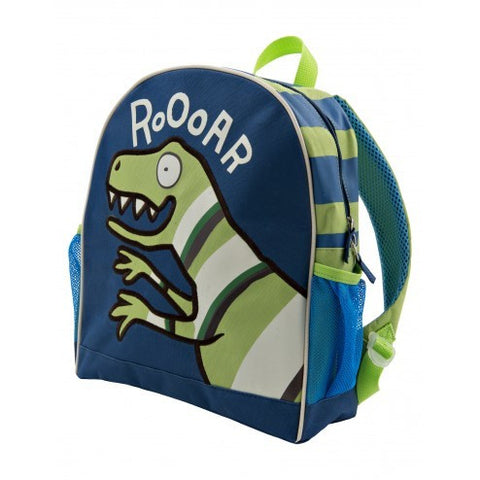 Hatley Backpack - Blue Dinos - Eloquence Boutique