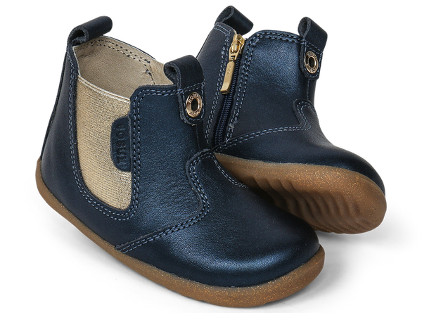 Bobux Step Up - Navy Shimmer Jodhpur - Eloquence Boutique