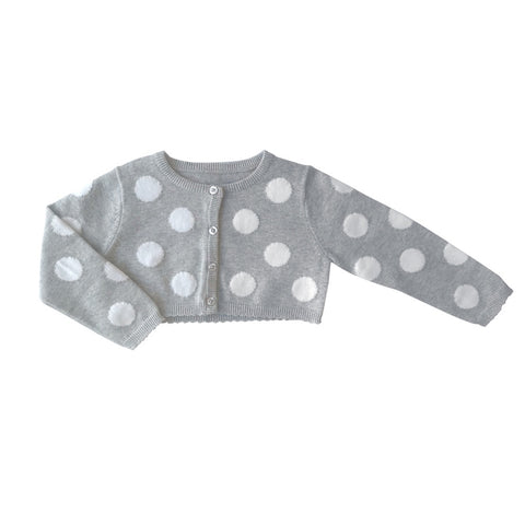 Beanstork Cardigan - Grey Dotty - Eloquence Boutique