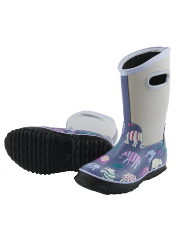 Hatley All Weather Boots - Patterned Elephants