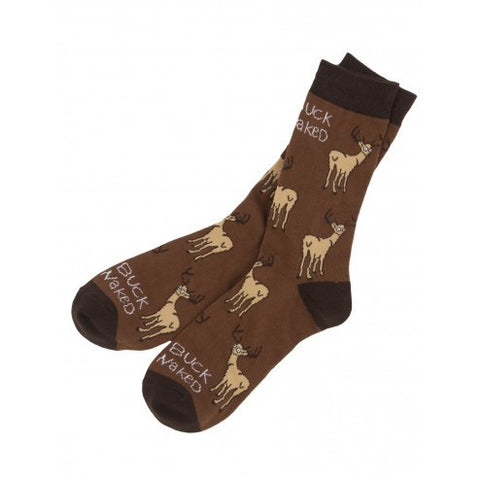 Men's Crew Socks - Buck Naked - Eloquence Boutique