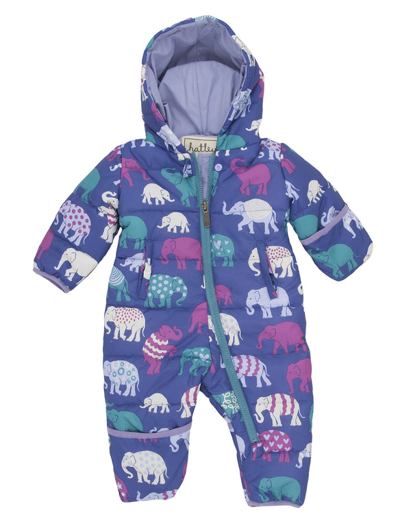 Hatley Infant Puffer - Patterned Elephants