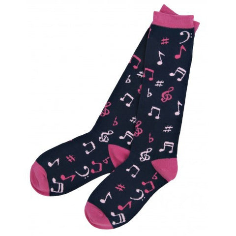 Hatley Womens Knee High Socks - Music Notes - Eloquence Boutique