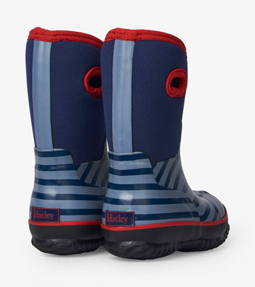 Hatley All Weather Boots - Blue Stripe