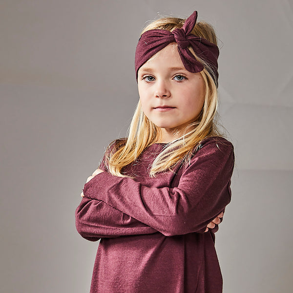 Little Flock of Horrors Darcy Headband - Mulberry - Eloquence Boutique
