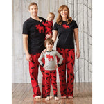 Hatley Womens Pyjama Top - Moose on Red - Eloquence Boutique