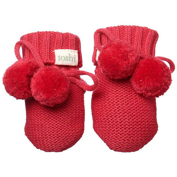 Toshi Baby Booties - Tomato - Eloquence Boutique