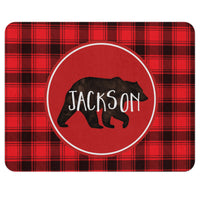 Buffalo Plaid Bear Rug