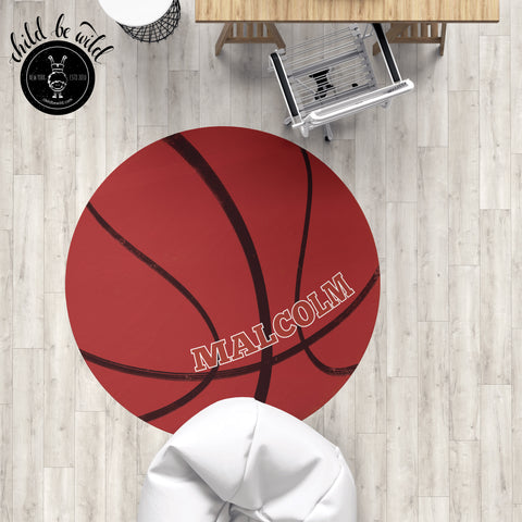 Basketball Rug, Basketball Coach Gift, Basketball Nursery Decor