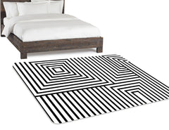 Modern Nursery Rug, Black And White Rug, Geometric Rug, Monochrome Rug