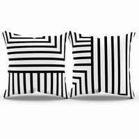 Geometric Pillow Cover, Modern Nursery Decor, Black And White Pillow, Geometric Decor, Monochrome Nursery