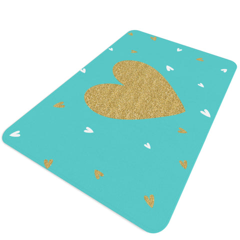Savannah Turquoise and Gold Nursery Rug