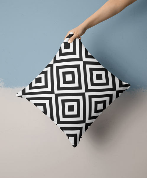 Black and White Modern Throw Pillow Covers