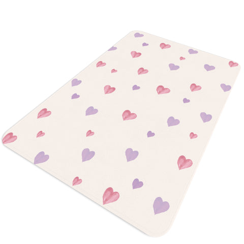 Watercolour Heart Rug