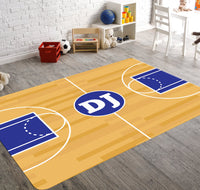 Basketball Court Area Rug, Basketball Room Decor