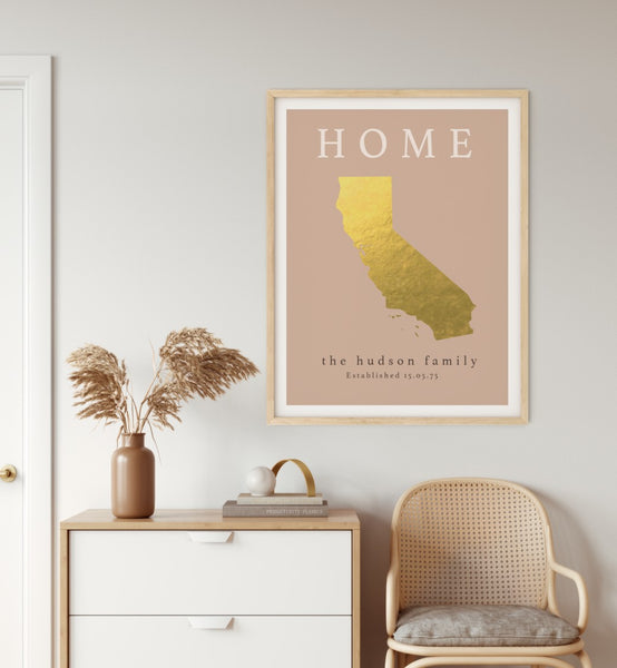 Home Gift, Gift For Parents, Home Map Print