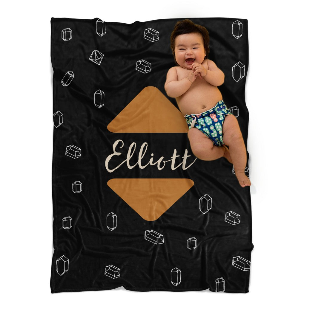 Modern Black & Brown Baby Blanket