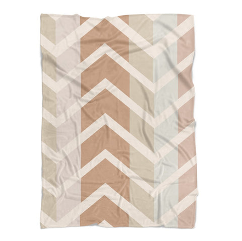 Modern Muted Chevrons Baby Blanket