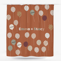 Neutral Shower Curtain in Balloons