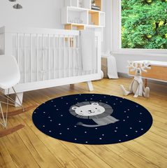 Lion Safari Nursery Rug