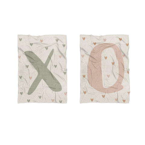 Twin Baby Blankets Set XO