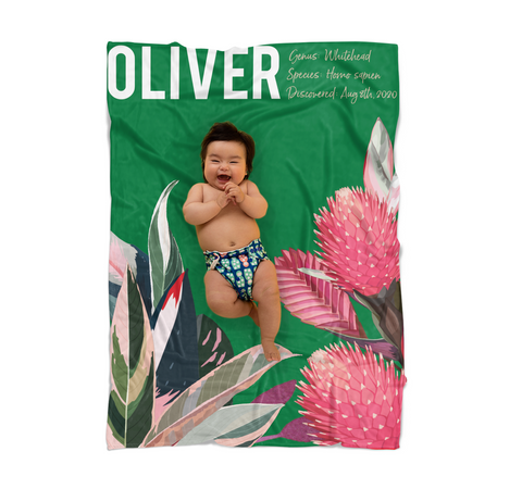 Tropical Rainforest Baby Blanket for Baby Boy or Girl