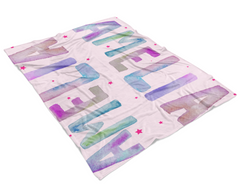 Amelia Watercolour Modern Baby Blanket