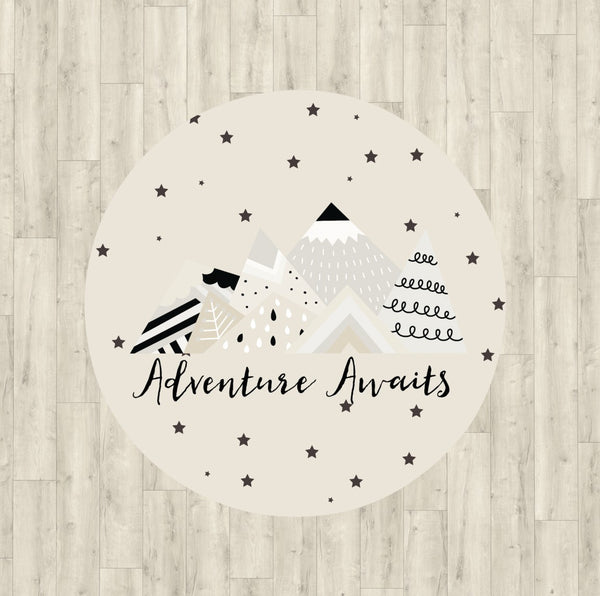 Adventure Awaits Neutral Rug