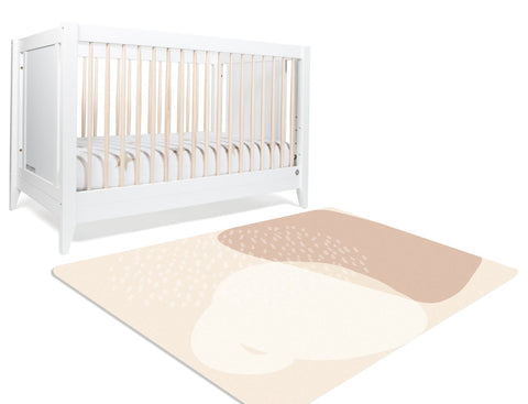 Modern Abstract Neutral Nursery Rug