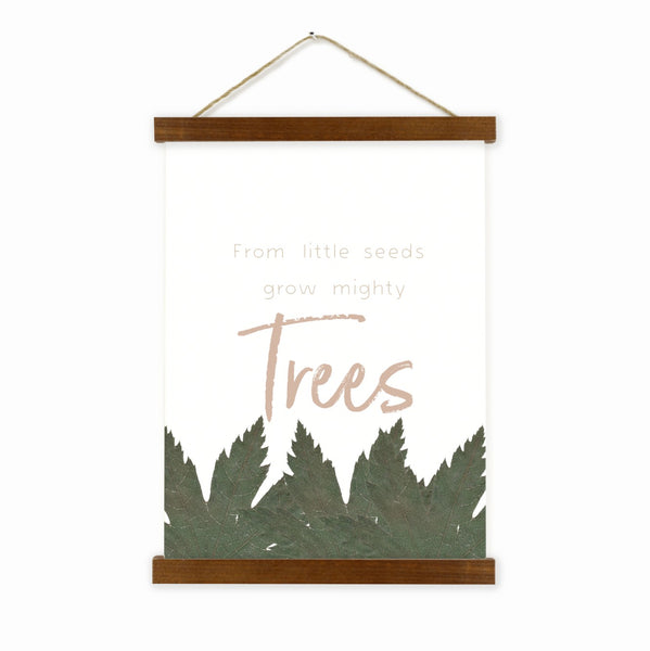 From Little Seeds Grow Mighty Trees Wall Hanging