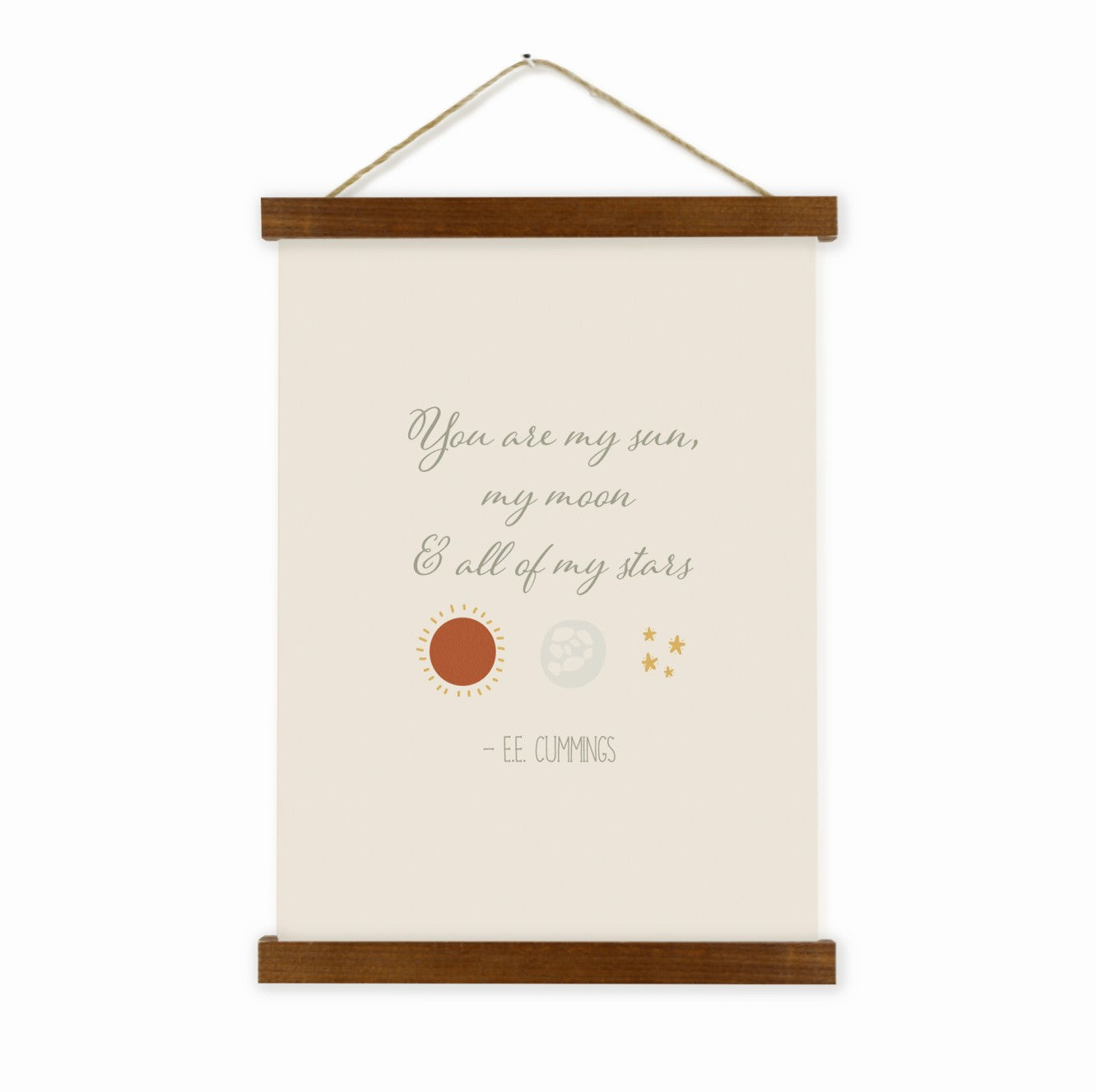 You Are My Sun, My Moon & All Of My Stars Wall Hanging