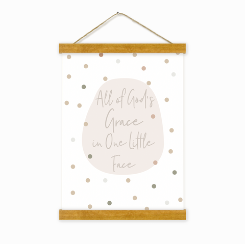 All Of God's Grace In One Little Face Wall Hanging