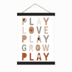 Play Love Grow Wall Hanging