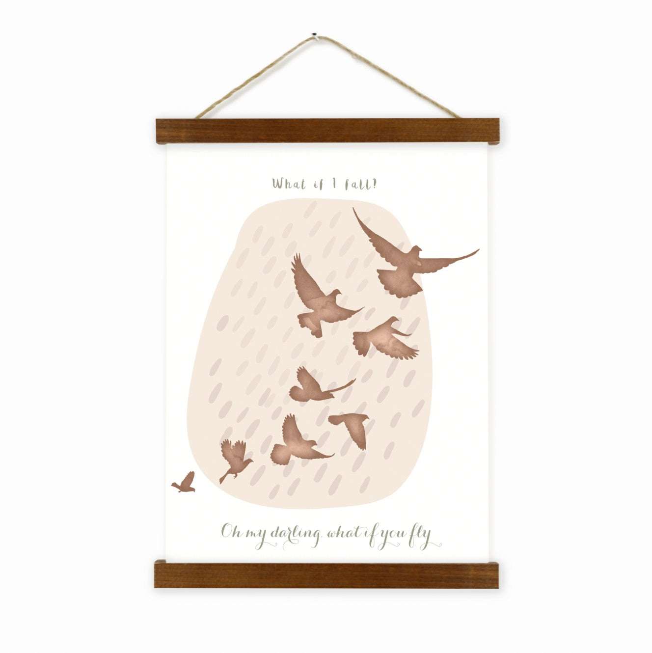 Oh My Darling What If You Fly Wall Hanging