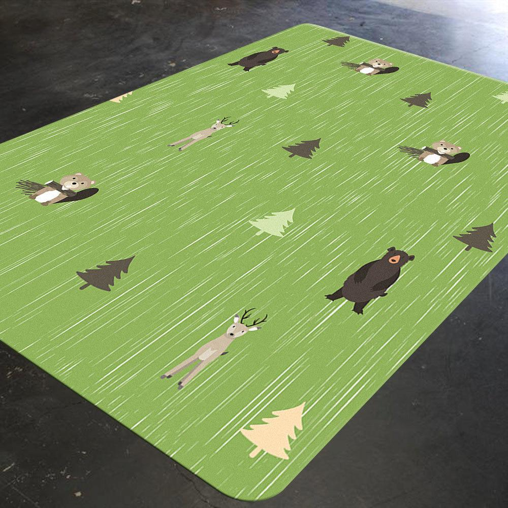 Kids Rug, Kids Room Decor, Forest Rug, Forest Animals