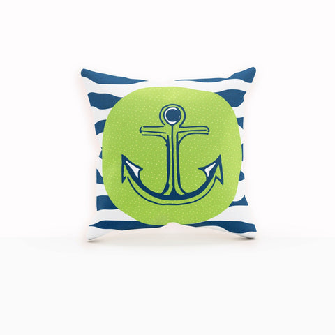 Anchor Pillow Cover, Anchor Throw Pillow,Navy Pillow, Navy Blue Throw Pillow