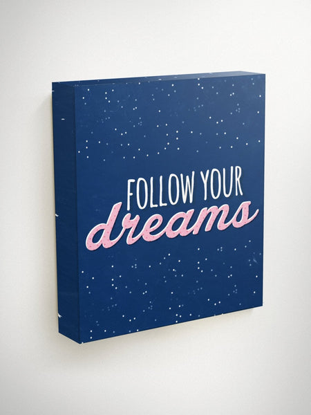 Follow Your Dreams, Christmas Gifts for Teen Girls, Christmas Gifts for Kids, Teen Wall Art, Teen Gift, Teen Girl Gifts, Teen Room Decor