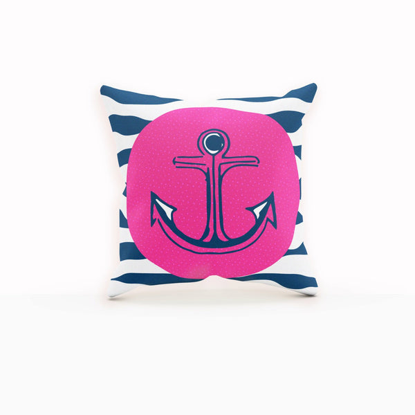 Pink Anchor Pillow, Anchor Pillow Cover, Anchor Throw Pillow,Throw Pillows Navy