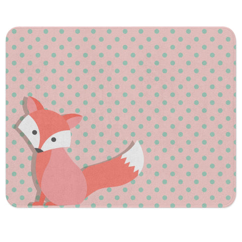 Fox Rug, Animal Nursery Decor, Woodland Rug, Baby Girl Woodland Nursery
