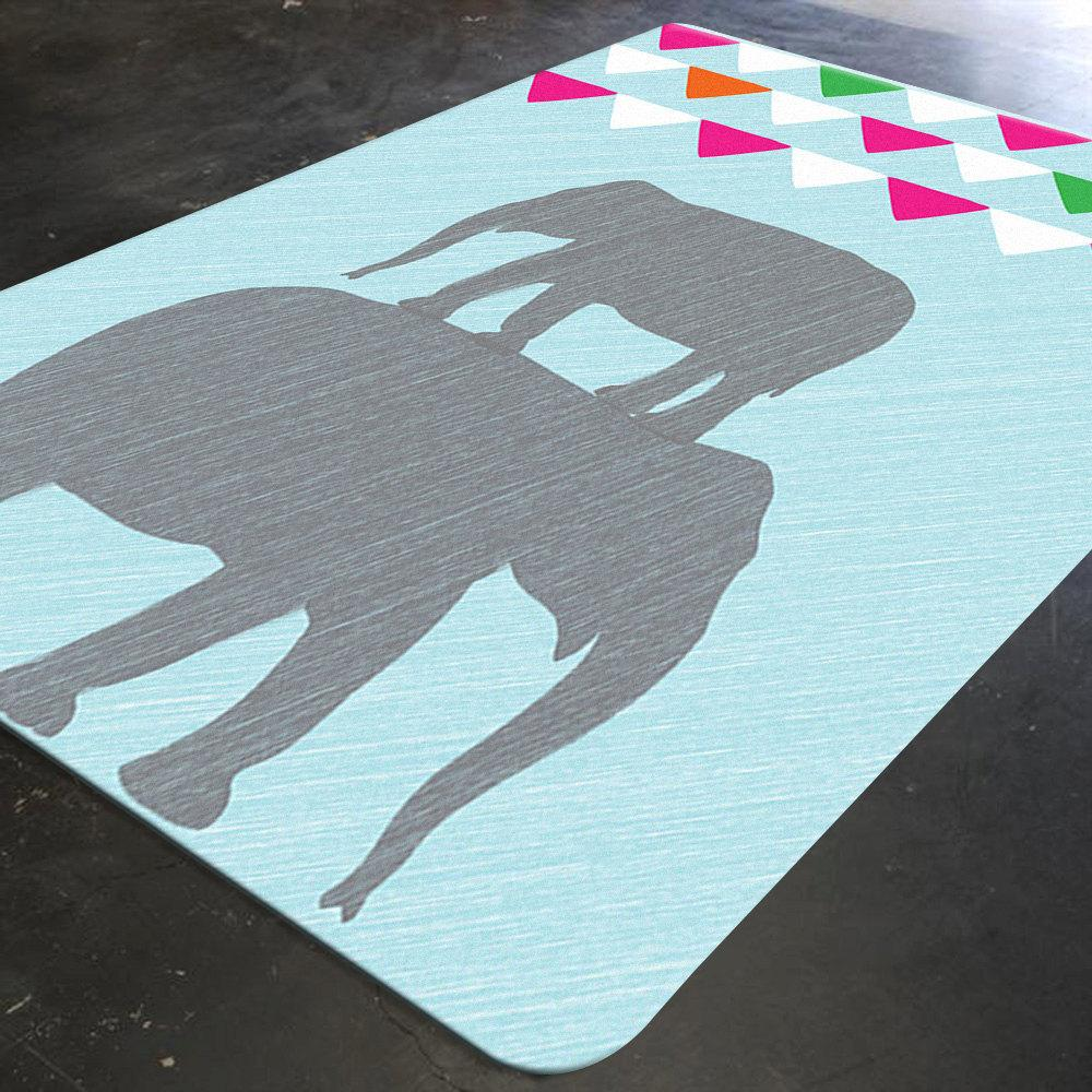 Elephant Nursery Rug, Elephant Family, Baby Boy Nursery, Baby Girl Room